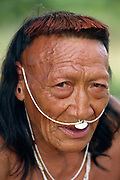 Yaminahua Indian<br />Boca Mishagua River<br />Amazon Rain Forest,  PERU.  South America<br />'only contacted in 1988'