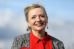 © Licensed to London News Pictures. 20/10/2016. Birstall, UK. Labour's candidate for the Batley and Spen by-election Tracy Brabin out campaigning in Heckmondwike, West Yorkshire, as the polls open for voters. The by-election was triggered after the tragic murder of Labour MP Jo Cox in the town of Birstall. Labour candidate Tracy Brabin is expected to win the seat uncontested by the Conservatives and Liberal Democrats. Photo credit : Ian Hinchliffe/LNP