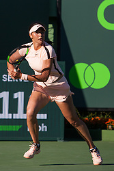 March 23, 2018 - Key Biscayne, FL, U.S. - KEY BISCAYNE, FL - MARCH 23: Natalia Vikhlyantseva (RUS) in action on Day 5 of the Miami Open at Crandon Park Tennis Center on March 23, 2018, in Key Biscayne, FL. (Photo by Aaron Gilbert/Icon Sportswire) (Credit Image: © Aaron Gilbert/Icon SMI via ZUMA Press)