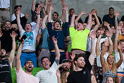 March 1, 2019 - Victoria, VIC, U.S. - MELBOURNE, AUSTRALIA - MARCH 01: Fans attempt to begin a Mexican wave at The Super Rugby match between Melbourne Rebels and Highlanders on March 01, 2019 at AAMI Park, VIC. (Photo by Speed Media/Icon Sportswire) (Credit Image: © Speed Media/Icon SMI via ZUMA Press)