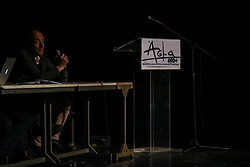 April 24, 2017 - Athens, Attica, Greece - 450+ composers and songwriters founding the organisation ASMA 450+ to face the royalty scandal of the AEPI - Hellenic Society for the Protection of Intellectual Property, in Athens on April 24, 2017  (Credit Image: © Wassilios Aswestopoulos/NurPhoto via ZUMA Press)