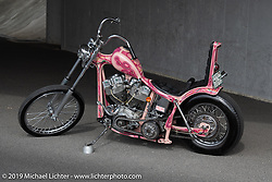 Ken Kentaro's Hot Chop Speed Shop 1981 Harley-Davidson 86ci Shovelhead chopper. Kyoto, Japan. Friday, December 7, 2018. Photography ©2018 Michael Lichter.