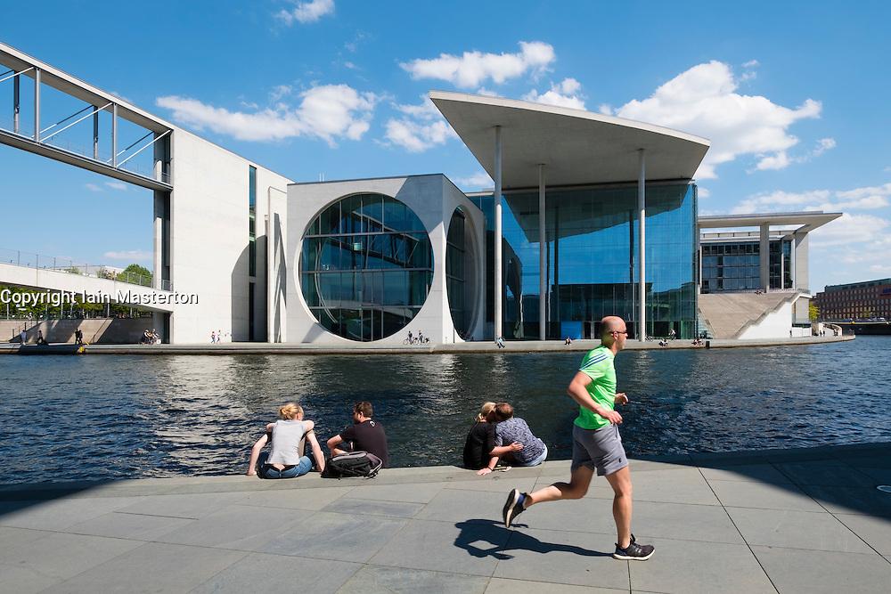 View of  Marie Elisabeth Luders ( Lueders) Haus government buildings beside River Spree in Berlin Germany