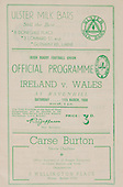 Rugby 1950-11/03 Five Nations Ireland Vs Wales