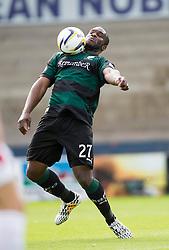 Raith Rovers Christian Nade.<br /> Raith Rovers 0 v 0 Falkirk, Scottish Championship game played 27/9/2014 at Raith Rovers Stark Park.