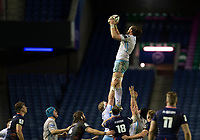 Rugby Union - 2020 / 2021 Guinness Pro-14 - Edinburgh vs Glasgow Warriors - Murrayfield<br /> <br /> Ryan Wilson of Glasgow Warriors wins a line out <br /> <br /> COLORSPORT/BRUCE WHITE