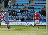 Photo: Lee Earle.<br /> Coventry City v Barnsley. Coca Cola Championship. 17/03/2007.Coventry's Michael Mifsud(L) scores their second goal.