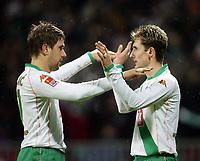 Fotball<br /> Bundesliga Tyskland 2004/05<br /> Werder Bremen v Hansa Rostock<br /> 30. januar 2005<br /> Foto: Digitalsport<br /> NORWAY ONLY<br /> JUBEL 2:0 Ivan KLASNIC , Miroslav KLOSE