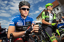 Radsport: 36. Bayern Rundfahrt 2015 / 5. Etappe, Hassfurt - Nuernberg, 17.05.2015<br /> Cycling: 36th Tour of Bavaria 2015 / Stage 5, <br /> Hassfurt - Nuernberg, 17.05.2015<br /> Start, # 113 Bennett, Sam (IRL, Team BORA-ARGON 18)