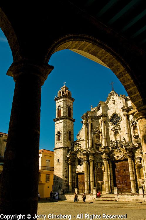 Catedral de San Cristobal de La Habana, Cathedral of Saint Christopher of Havana, grandest cathedral in Havana, Cuba.