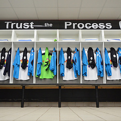 TELFORD COPYRIGHT MIKE SHERIDAN The AFC Telford United dressing room prior to the Vanarama National League Conference North fixture between AFC Telford United and Spennymoor Town on Saturday, November 16, 2019.<br /> <br /> Picture credit: Mike Sheridan/Ultrapress<br /> <br /> MS201920-030
