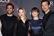 Elyas M'Barek, Karoline Herfurth, Lena Schömann und Florian David Fitz (v.l.n.r.) auf dem Roten Teppich anlässlich der Verleihung des 41. Bayerischen Filmpreises 2019 am 17.01.2020 im Prinzregententheater München.