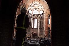 JUN 9 2000 All Saints Church Fire