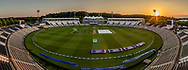 The Sun setting over The Ageas Bowl on the 4th and final day after England beat India by 60 runs the fourth day of the 4th SpecSavers International Test Match 2018 match between England and India at the Ageas Bowl, Southampton, United Kingdom on 2 September 2018.
