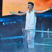 WASHINGTON, D.C. - November 5th, 2012 - Teen recording sensation Justin Bieber performs at the Verizon Center in Washington, D.C. as part of his  Believe Tour. The tour, named after his sophomore album, is expected to play over 80 shows in North America, Europe, and Asia. (Photo by Kyle Gustafson/ For The Washington Post)