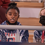 TOKYO, JAPAN - JULY 28: Simone Biles of the United States in the stands watching the Men's All Round competition at Ariake Gymnastics Centre at the Tokyo 2020 Summer Olympic Games on July 28, 2021 in Tokyo, Japan. (Photo by Tim Clayton/Corbis via Getty Images)