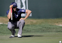 March 10, 2017 - Palm Harbor, Florida, U.S. - DOUGLAS R. CLIFFORD   |   Times.Adam Hadwin analyzes a putt at the 17th green while playing in the second round of the Valspar Golf Championship at Innisbrook Resort and Golf Club's Copperhead Course on Thursday (3/9/17) in Palm Harbor. (Credit Image: © Douglas R. Clifford/Tampa Bay Times via ZUMA Wire)
