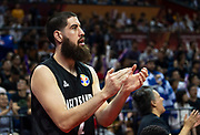 NANJING,CHINA:SEPTEMBER 5th 2019.FIBA World Cup Basketball 2019 Group phase match.Group F. New Zealand vs Greece. Small Forward Jordan NGATAI encourages the team from the sidelines.<br /> Photo by Jayne Russell / www.PhotoSport.nz