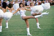 Cheerleaders at polo match at Palm Beach Polo Club, Florida, USA