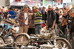 AMD World Championship of Custom Bike Building in the Intermot Customized hall during the Intermot International Motorcycle Fair. Cologne, Germany. Saturday October 6, 2018. Photography ©2018 Michael Lichter.