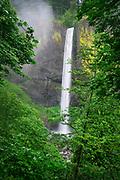 Water tumbles over Latourelle Falls, in the Columbia River Gorge National Scenic Area, Oregon