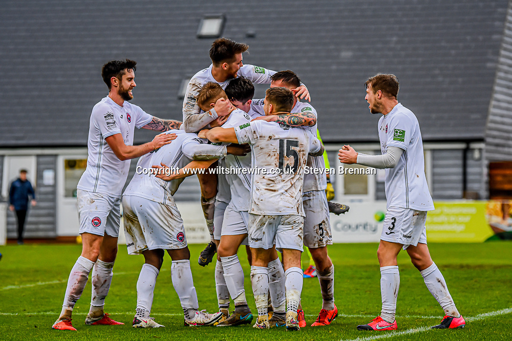 Truro city in celebrations as Harvey scores in the 90th minute 24/10/2020