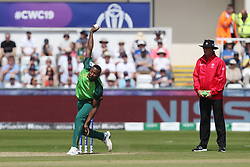June 28, 2019 - Chester Le Street, County Durham, United Kingdom - South Africa's Andile Phehlukwayo bowling during the ICC Cricket World Cup 2019 match between Sri Lanka and South Africa at Emirates Riverside, Chester le Street on Friday 28th June 2019. (Credit Image: © Mi News/NurPhoto via ZUMA Press)