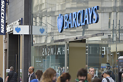 October 19, 2016 - Manchester, England, United Kingdom - A branch of Barclays, a provider of mortgages for people purchasing property, trades on October 19, 2016 in Manchester, England. The United Kingdom's finance industry regulator, the Financial Conduct Authority, has announced a commitment to consult on mortgage payment shortfall remediation guidance. (Credit Image: © Jonathan Nicholson/NurPhoto via ZUMA Press)