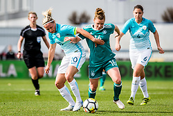 Linda Dallmann of Germany  of Germany  and Dominika Conc of Slovenia during football match between Slovenia and Germany in Womans Qualifications for World Championship 2019, on April 10, 2018 in Sports park Domzale, Domzale, Slovenia. Photo by Ziga Zupan / Sportida