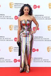 Sarah-Jane Crawford attending the Virgin Media BAFTA TV awards, held at the Royal Festival Hall in London. Photo credit should read: Doug Peters/EMPICS