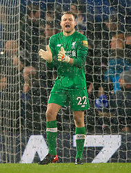 """Liverpool goalkeeper Simon Mignolet during the Premier League match at Anfield, Liverpool. PRESS ASSOCIATION Photo. Picture date: Sunday December 10, 2017. See PA story SOCCER Liverpool. Photo credit should read: Peter Byrne/PA Wire. RESTRICTIONS: EDITORIAL USE ONLY No use with unauthorised audio, video, data, fixture lists, club/league logos or """"live"""" services. Online in-match use limited to 75 images, no video emulation. No use in betting, games or single club/league/player publications."""