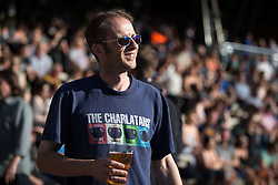 "© Licensed to London News Pictures . 04/07/2015 . Manchester , UK . A Charlatans fan in the crowd . Fans at the Castlefield Bowl as part of the "" Summer in the City "" festival in Manchester. Photo credit : Joel Goodman/LNP"