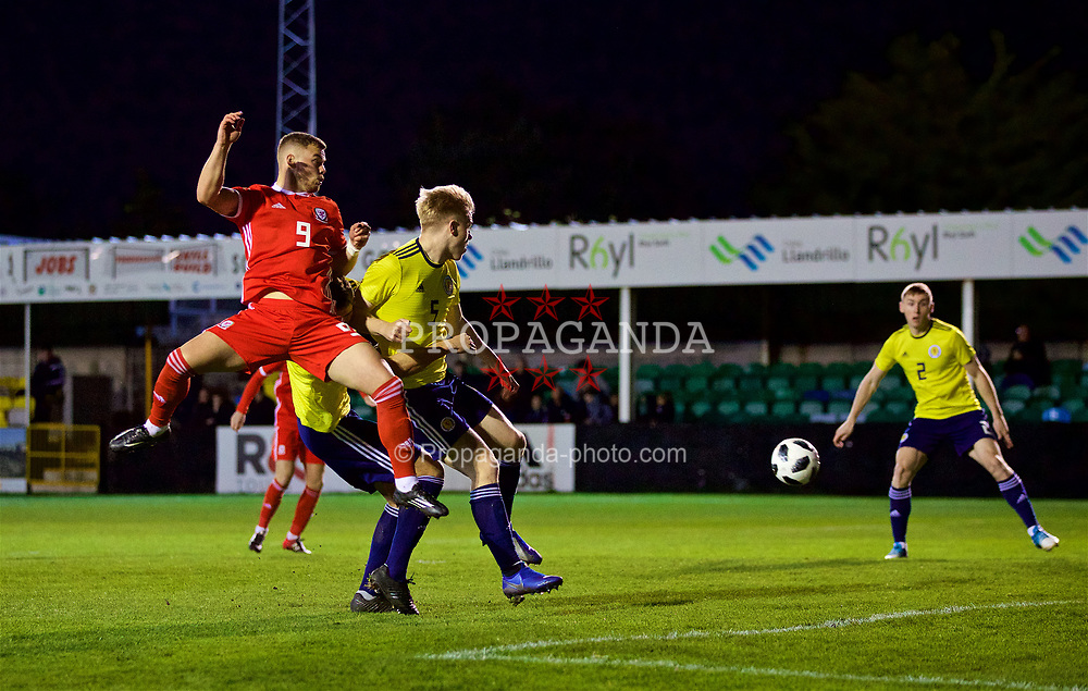 RHYL, WALES - Wednesday, November 14, 2018: Wales' Daniel Griffiths during the UEFA Under-19 Championship 2019 Qualifying Group 4 match between Wales and Scotland at Belle Vue. (Pic by Paul Greenwood/Propaganda)