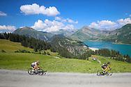 Romain Sicard (FRA - Direct Energie) and Julian Alaphilippe (FRA - QuickStep - Floors) 105th Tour de France 2018, Stage 11, Alberville - La Rosiere Espace Bernardo (108,5 km) on July 18th, 2018 - Photo George Deswijzen / Pro Shots / ProSportsImages / DPPI