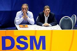 18-05-2008 VOLLEYBAL: EK KWALIFICATIE NEDERLAND - SLOVENIE: ROTTERDAM<br /> Nederland wint ook de laatste wedstrijd met 3-0 - Joop Alberda en Arjen Boonstoppel<br /> ©2008-WWW.FOTOHOOGENDOORN.NL
