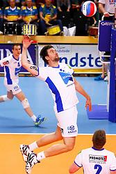 20150426 NED: Eredivisie Landstede Volleybal - Abiant Lycurgus, Zwolle<br />Dennis van der Veen (6) of Abiant Lycurgus<br />©2015-FotoHoogendoorn.nl / Pim Waslander