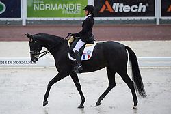 Anne Frederique Royon, (FRA), J Adore - Team Competition Grade Ib Para Dressage - Alltech FEI World Equestrian Games™ 2014 - Normandy, France.<br /> © Hippo Foto Team - Jon Stroud <br /> 25/06/14