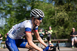 Shara Gillow (AUS) of FDJ Nouvelle Aquitaine Futuroscope Team rides in the early part of the Amstel Gold Race - Ladies Edition - a 126.8 km road race, between Maastricht and Valkenburg on April 21, 2019, in Limburg, Netherlands. (Photo by Balint Hamvas/Velofocus.com)