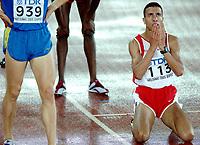 Friidrett<br /> VM 2005 Helsinki<br /> Foto: Dppi/Digitalsport<br /> NORWAY ONLY<br /> <br /> ATHLETICS - IAAF WORLD CHAMPIONSHIPS 2005 - HELSINKI (FIN) - 7/08/2005<br /> <br /> MEN 1500M FINAL - RASHID RAMZI (BRN) / WINNER