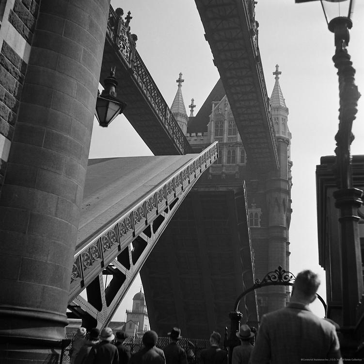 Tower Bridge Opening, London, 1934