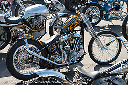 Jasin Phares' 1948 Harley-Davidson Panhead at the Born Free pre-party and Harley-Davidson Stampede at Costa Mesa Speedway. Costa Mesa, CA. USA. Thursday June 22, 2017. Photography ©2017 Michael Lichter.