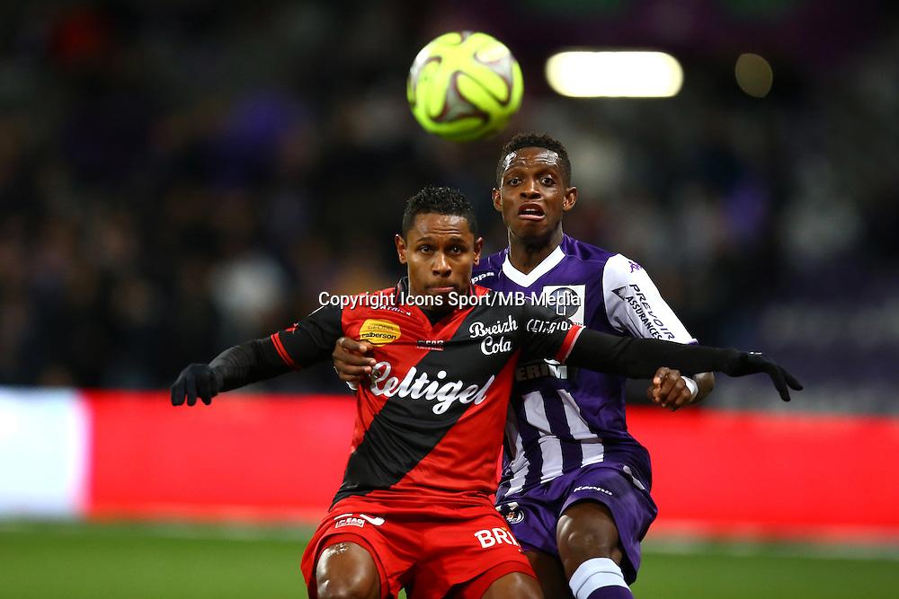 Christophe Mandanne / Jacques Francois Moubandje - 20.12.2014 - Toulouse / Guingamp - 17eme journee de Ligue 1 <br />Photo : Manuel Blondeau / Icon Sport