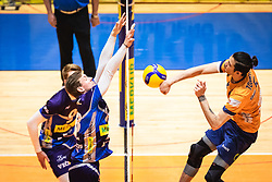 Amir Toukhteh of ACH Volley Ljubljana during 3rd Leg of Volleyball match between ACH Volley and OK Merkur Maribor in Final of 1. DOL League 2020/21, on April 20, 2021 in SD Tabor, Maribor, Slovenia. Photo by Blaž Weindorfer / Sportida