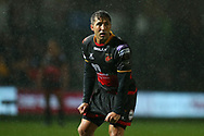 Gavin Henson of the Dragons looks on. Guinness Pro14 rugby match, Dragons v Southern Kings at Rodney Parade in Newport, South Wales on Saturday 30th September 2017.<br /> pic by Andrew Orchard, Andrew Orchard sports photography.