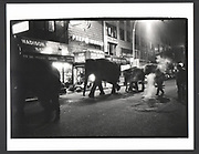 Elephants walking through midtown Manhattan at 1. a.m. to the Circus. 1993 Exhibition in a Box