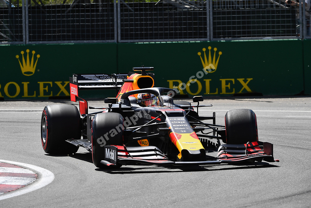 Max Verstappen (Red Bull-Honda) during practice for the 2019 Canadian Grand Prix in Montreal. Photo: Grand Prix Photo