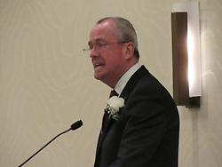 August 15, 2017 - Mount Laurel, NJ, United States - Candidate for New Jersey Governor Phil Murphy delivers remarks to an audience in Mount Laurel, NJ on August 15, 2017. (Credit Image: © Kyle Mazza/NurPhoto via ZUMA Press)