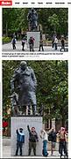 The Sun newspaper cutting © Guy Bell, guy@gbphotos.com, 07771786236