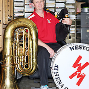 Rob McIntyre is the music teacher for the small community schools in Weston and Athena, northeast of Pendleton. He teaches instruments as diverse as the guitar, drums, ukelele and bagpipe to students to elementary, middle and high school students.