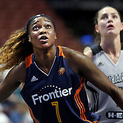 UNCASVILLE, CONNECTICUT- MAY 05:  Victoria Macaulay #7 of the Connecticut Sun in action during the San Antonio Stars Vs Connecticut Sun preseason WNBA game at Mohegan Sun Arena on May 05, 2016 in Uncasville, Connecticut. (Photo by Tim Clayton/Corbis via Getty Images)